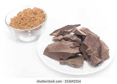 cocoa paste and cocoa powder