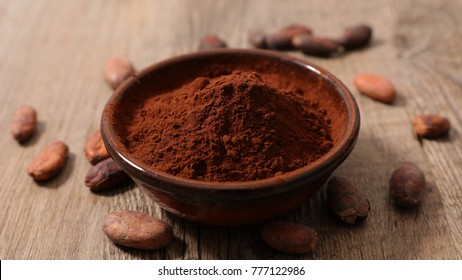 cocoa powder with cocoa bean