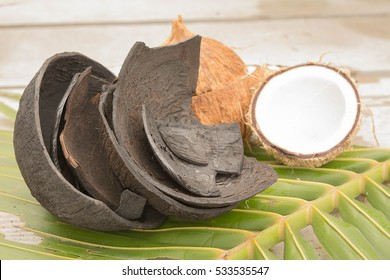 Coconut Activated Charcoal made from coconut shells. Activated charcoal works by trapping toxins and chemicals in its millions of tiny pores.