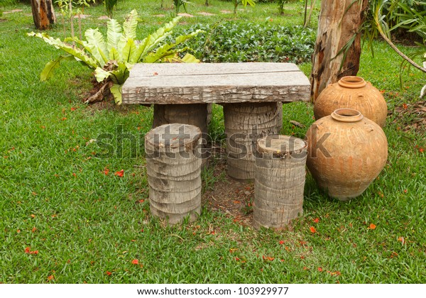 Surprising Coconut Bench Garden Stock Photo Edit Now 103929977 Evergreenethics Interior Chair Design Evergreenethicsorg