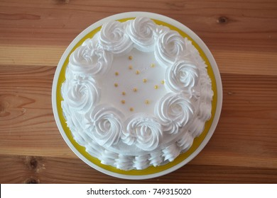 Coconut Cake on wooden background