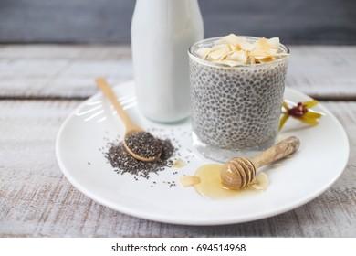 Coconut chia pudding.