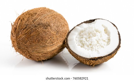 coconut chips  on white background