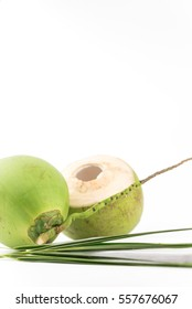 Coconut half isolated on white Background