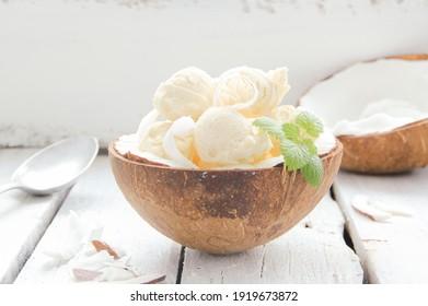 coconut ice cream vegan dessert