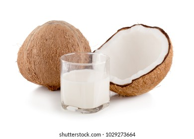 Coconut isolated on the white background. Tropical fruit coconut.