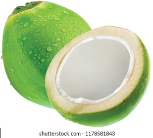 Coconut isolated on white background.