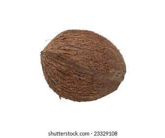 Coconut, isolated on a white background