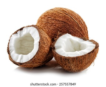coconut isolated on a white background