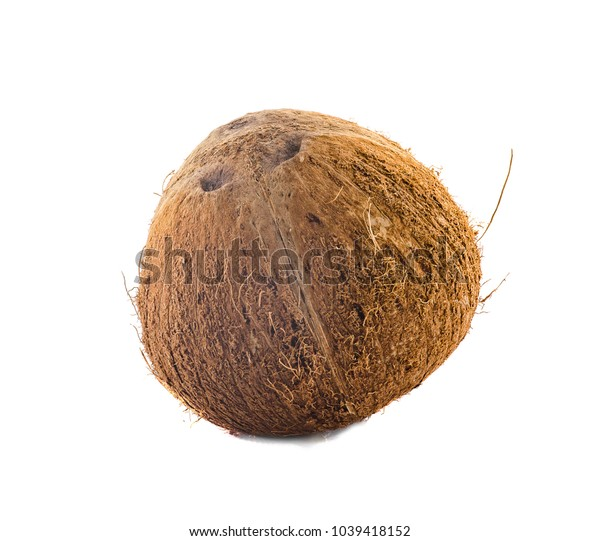 The coconut isolated on a white background.