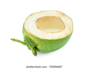 Coconut juice isolated on white background