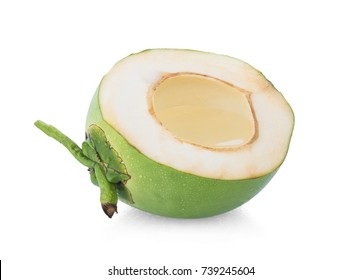 Coconut juice isolated on white background