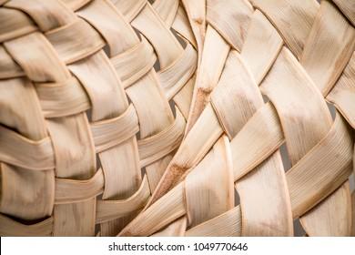Coconut leaf hat palm leaves