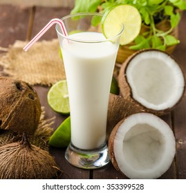 Coconut milk, delicious drink full of nutrition and vitamins