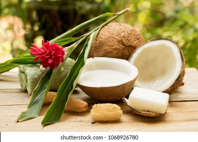 Coconut and coconut milk have medicinal properties. Do it yourself handmade coconut soap.