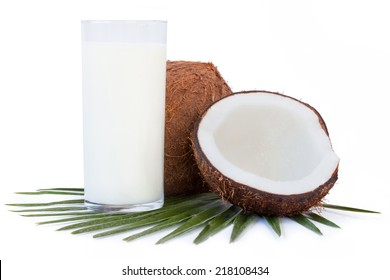 Coconut milk isolated on a white background