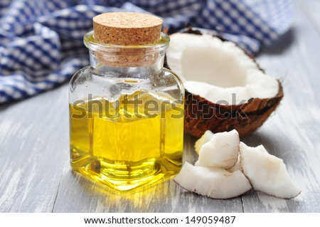 Coconut oil with fresh coconut for alternative therapy