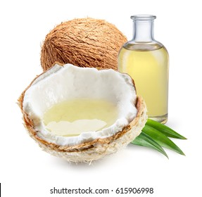 Coconut oil images stock photos vectors shutterstock coconut oil with fresh nut isolated on white background full depth of field toneelgroepblik Images