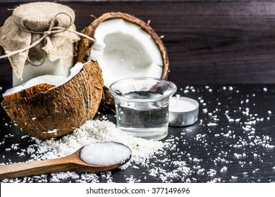 Coconut oil and coconut milk for alternative therapy