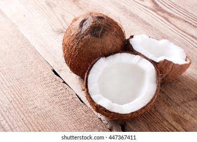 coconut on the table