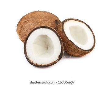 coconut on white