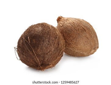 coconut shell isolated on white background