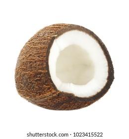 coconut slice isolated