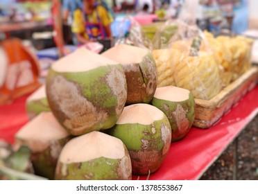 Coconut at street food