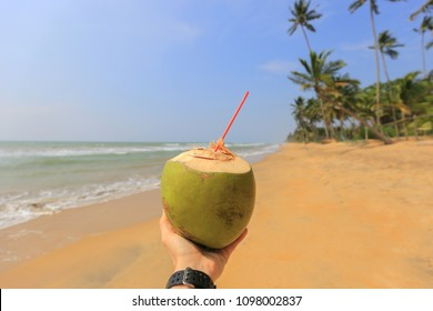 Coconut water in hand