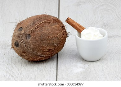 Coconut and whipped cream