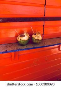 Coconuts on Junkanoo Beach, Nassau Bahamas, March 19, 2018