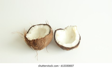 Cocunut opened in the middle