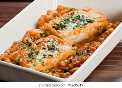 Cod with beans