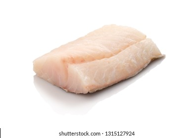 Cod codfish raw filet white isolated