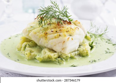 Cod filet in Basil Champagne Foam