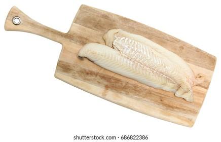 Cod Fillets on Cutting Board