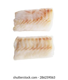 Cod Fish Fillets Isolated On White Background