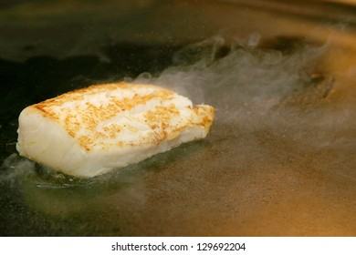cod in the grill