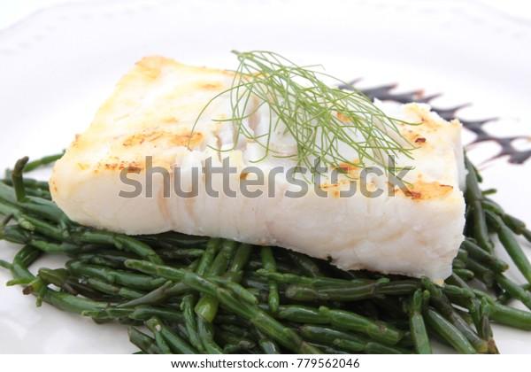 cod and salicornia