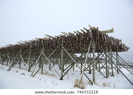 Cod Stock Fish Hang Dry Cold Stock Photo Edit Now 746552218