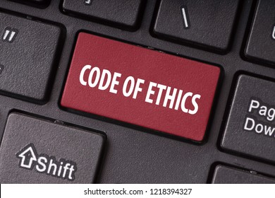 Code of Ethics On Red Keyboard