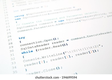 Code of php language on white background