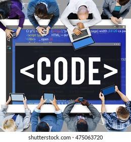 Code Programming Technology Language Developing Concept