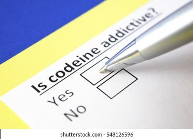 Is codeine addictive? Yes