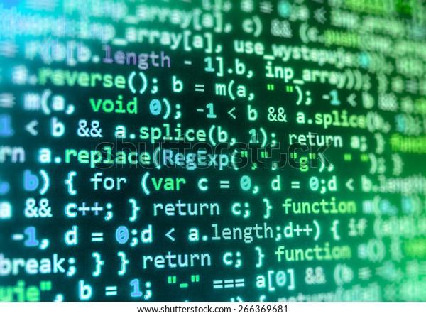 Coding Application Developer Programmer Developer Screen Stock Photo