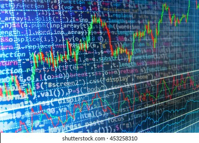 Coding Business Computer Source Code Stock Stock Photo (Edit