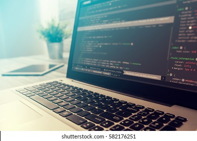 coding code program programming compute coder work write software develop concept - stock image