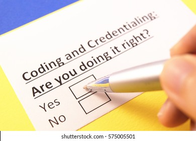 Coding and credentialing: are you doing it right?