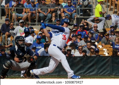 Cody Bellinger first basemen for the Los Angeles Dodgers at Camelback Ranch -Glendale in Phoenix ,Arizona USA March 18,2018.