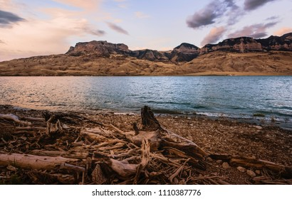 Cody, Wyoming, USA. Buffalo Bill State Park with view of Shoshone river/reservoir on a beautiful dawn in late summer near Cody, Wyoming, USA.